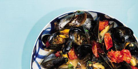Produce, Seafood, Ceramic, Paint, Art paint, Bivalve,