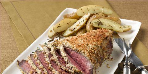 Food, Dishware, Beef, Tableware, Serveware, Plate, Ingredient, Kitchen utensil, Pork, Cuisine,