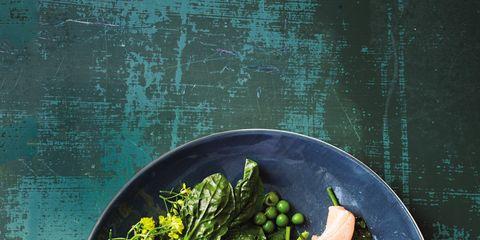 Food, Dishware, Ingredient, Leaf vegetable, Tableware, Kitchen utensil, Garnish, Fines herbes, Cutlery, Plate,