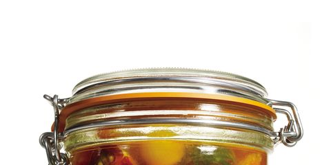 Food, Produce, Preserved food, Food storage containers, Pickling, Mason jar, Ingredient, Canning, Lid, Fruit preserve,