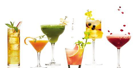 Liquid, Drink, Alcoholic beverage, Glass, Tableware, Juice, Cocktail, Drinkware, Classic cocktail, Distilled beverage,