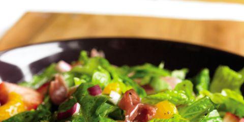 Food, Salad, Produce, Vegetable, Leaf vegetable, Garden salad, Ingredient, Tableware, Recipe, Cuisine,