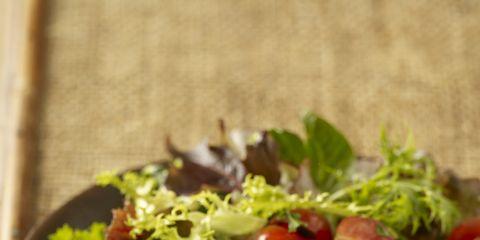 Food, Ingredient, Recipe, Tableware, Garnish, Dish, Leaf vegetable, Plate, Dishware, Meat,