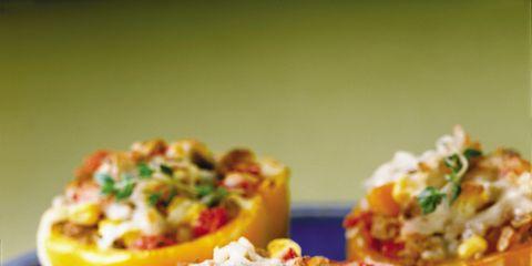 Food, Cuisine, Ingredient, Serveware, Dishware, Dish, Recipe, Stuffed peppers, Produce, Plate,