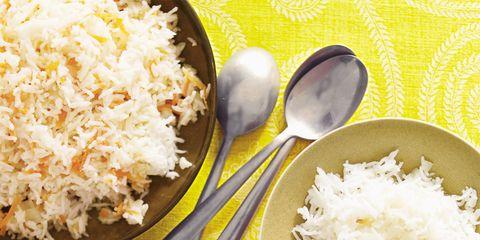 Food, Cuisine, White, Recipe, Dishware, Rice, Kitchen utensil, Ingredient, Steamed rice, Staple food,