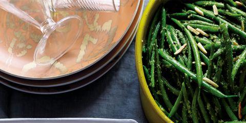 Food, Cuisine, Dishware, Produce, Ingredient, Bean, Green bean, Vegetable, Kitchen utensil, Serveware,