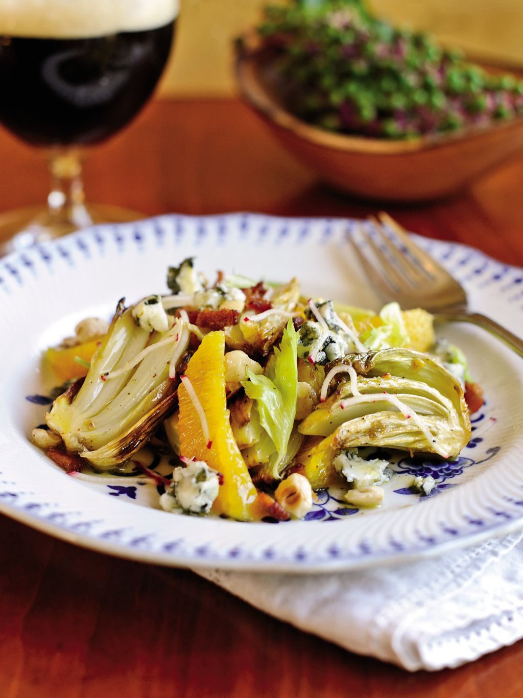 Roasted Celery and Blue Cheese