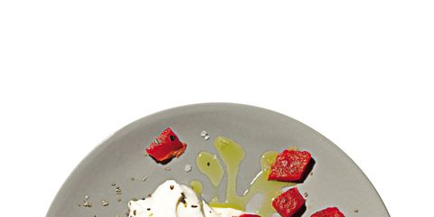 Red, Food, Dishware, Ingredient, Carmine, Dairy, Serveware, Circle, Fruit, Garnish,