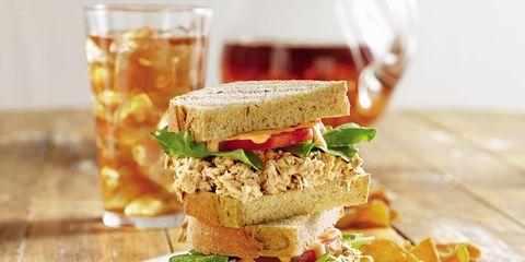 Food, Cuisine, Finger food, Ingredient, Tableware, Drinkware, Dish, Glass, Sandwich, Leaf vegetable,
