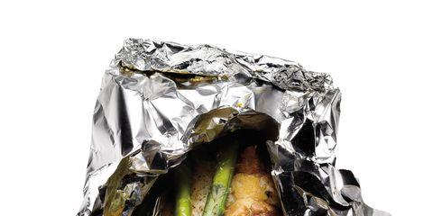 Cuisine, Food, Aluminium foil, Ingredient, Foil, Dish, Recipe, Seafood, Finger food, Garnish,