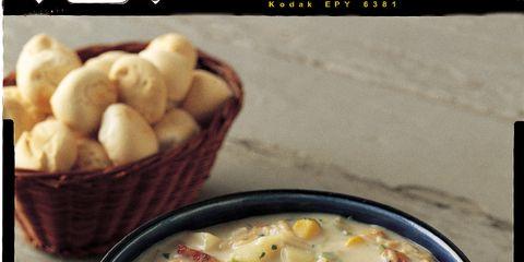 Food, Cuisine, Dish, Ingredient, Recipe, Produce, Kitchen utensil, Soup, Dishware, Cutlery,