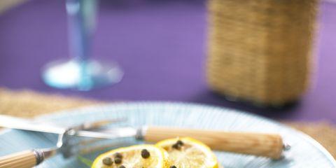 Serveware, Food, Dishware, Ingredient, Tableware, Plate, Citrus, Lemon, Produce, Kitchen utensil,