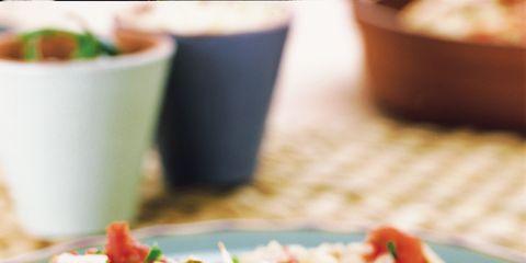 Food, Cuisine, Dish, Tableware, Recipe, Ingredient, Rice, Meat, Dishware, Garnish,