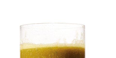 Liquid, Drink, Yellow, Fluid, Drinkware, Tableware, Ingredient, Alcoholic beverage, Highball glass, Vegetable juice,