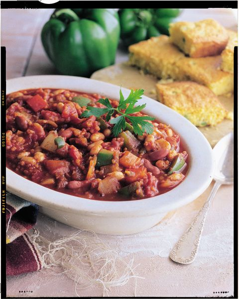 Vegetable Chili with Cannellini and Kidney Beans