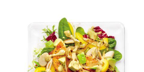 Food, Cuisine, Salad, Produce, Tableware, Vegetable, Dishware, Garden salad, Garnish, Ingredient,