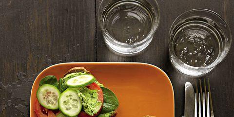 Food, Dishware, Serveware, Vegetable, Plate, Kitchen utensil, Produce, Tableware, Cutlery, Fork,