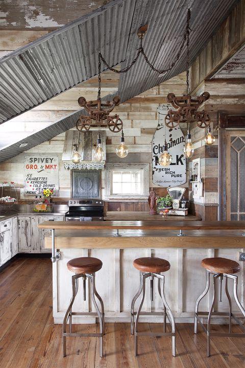 kitchen-lighting-ideas-reclaimed-rustic