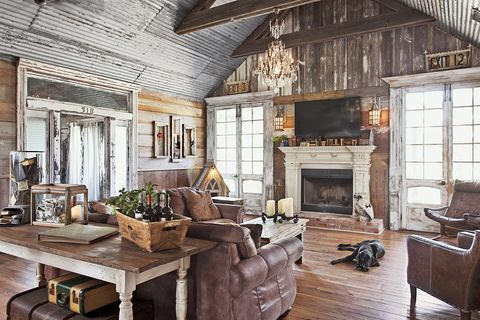 rustic farmhouse decor living room