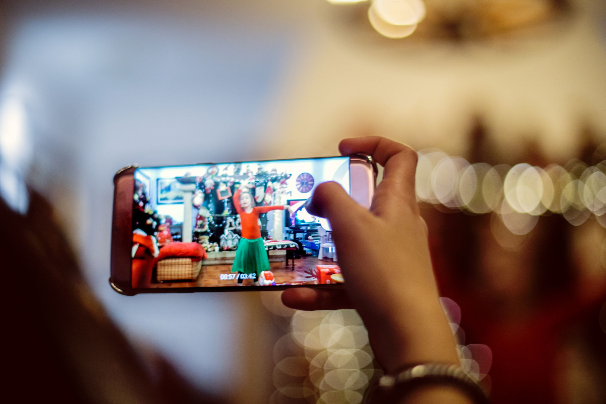 Videos played on a mobile phone