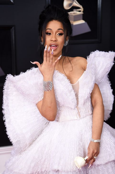Cardi B Wore 500 Swarovski Crystals On Her Nails For Pepsi Super