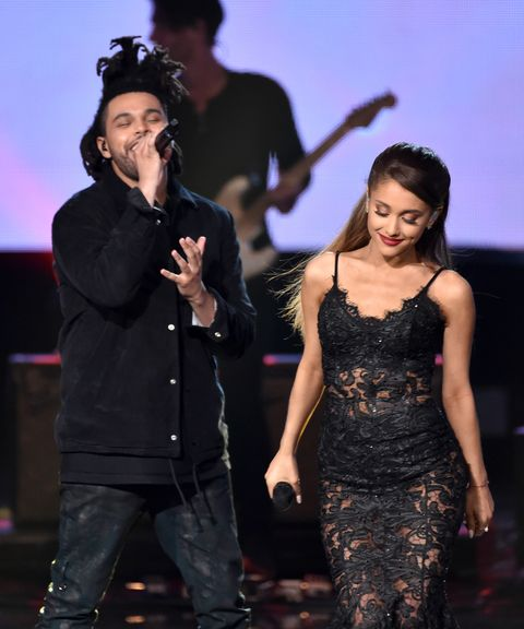 ariana grande and the weeknd performing at the 2014 amas