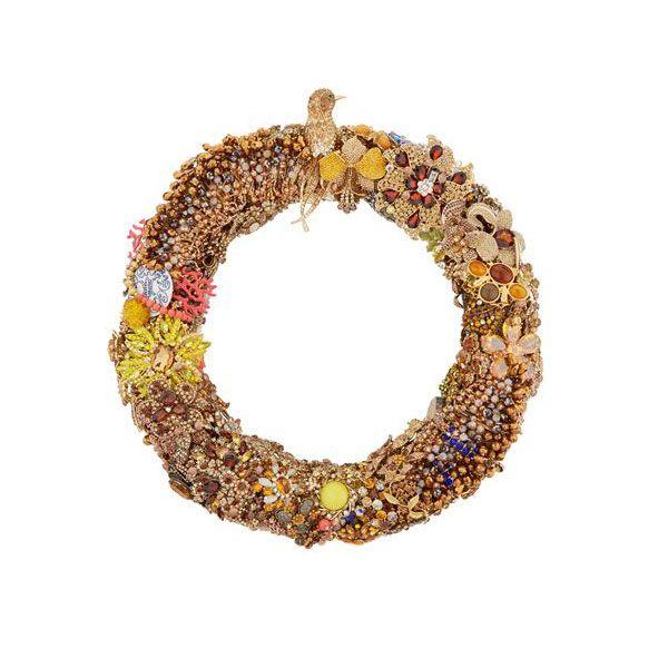 Best LuxuryChristmas Wreaths - Harrods Vintage Jewellery Wreath