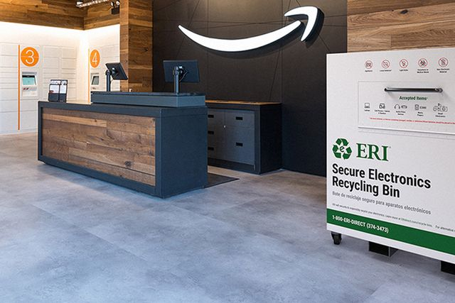 amazon secure electronics recycling bin center