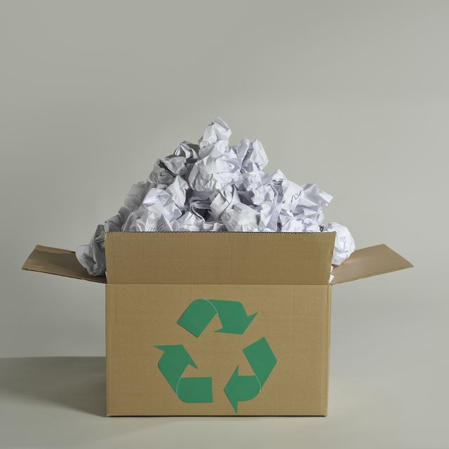 Recycling box and wastepaper