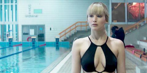 Clothing, Swimming pool, Swimwear, Swimmer, Monokini, Blond, Recreation, Leisure, Leisure centre, One-piece swimsuit,