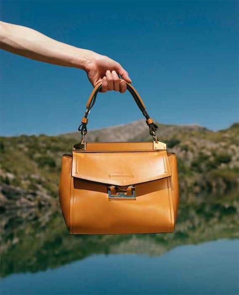 Bag, Handbag, Leather, Yellow, Fashion accessory, Orange, Tan, Fashion, Shoulder bag, Design,