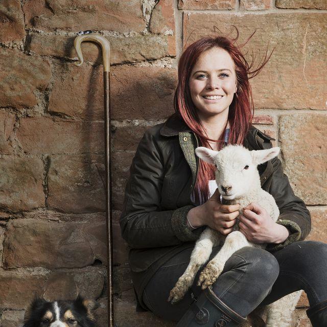shepherd hannah jackson and her sheepdog fraser