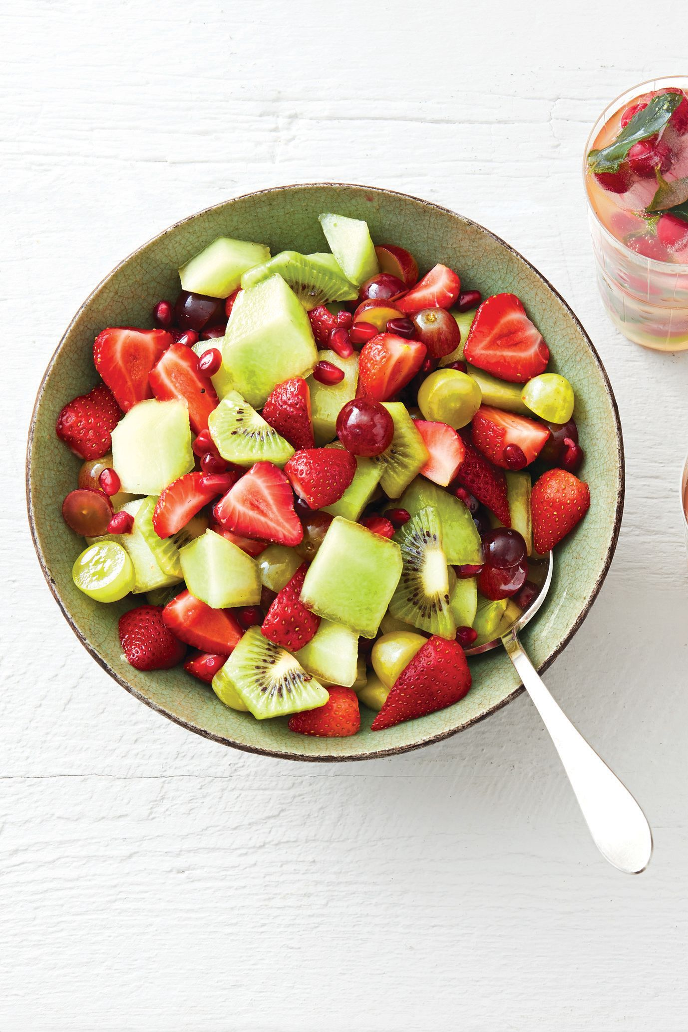 Best Red And Green Fruit Salad With Mint Syrup Recipe Easy Fruit Salad
