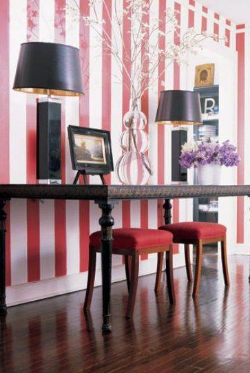 20 Chic Striped Walls Photos Of Rooms With Striped Walls