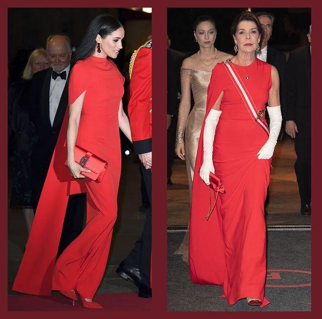 duchess princess queen gown cape red