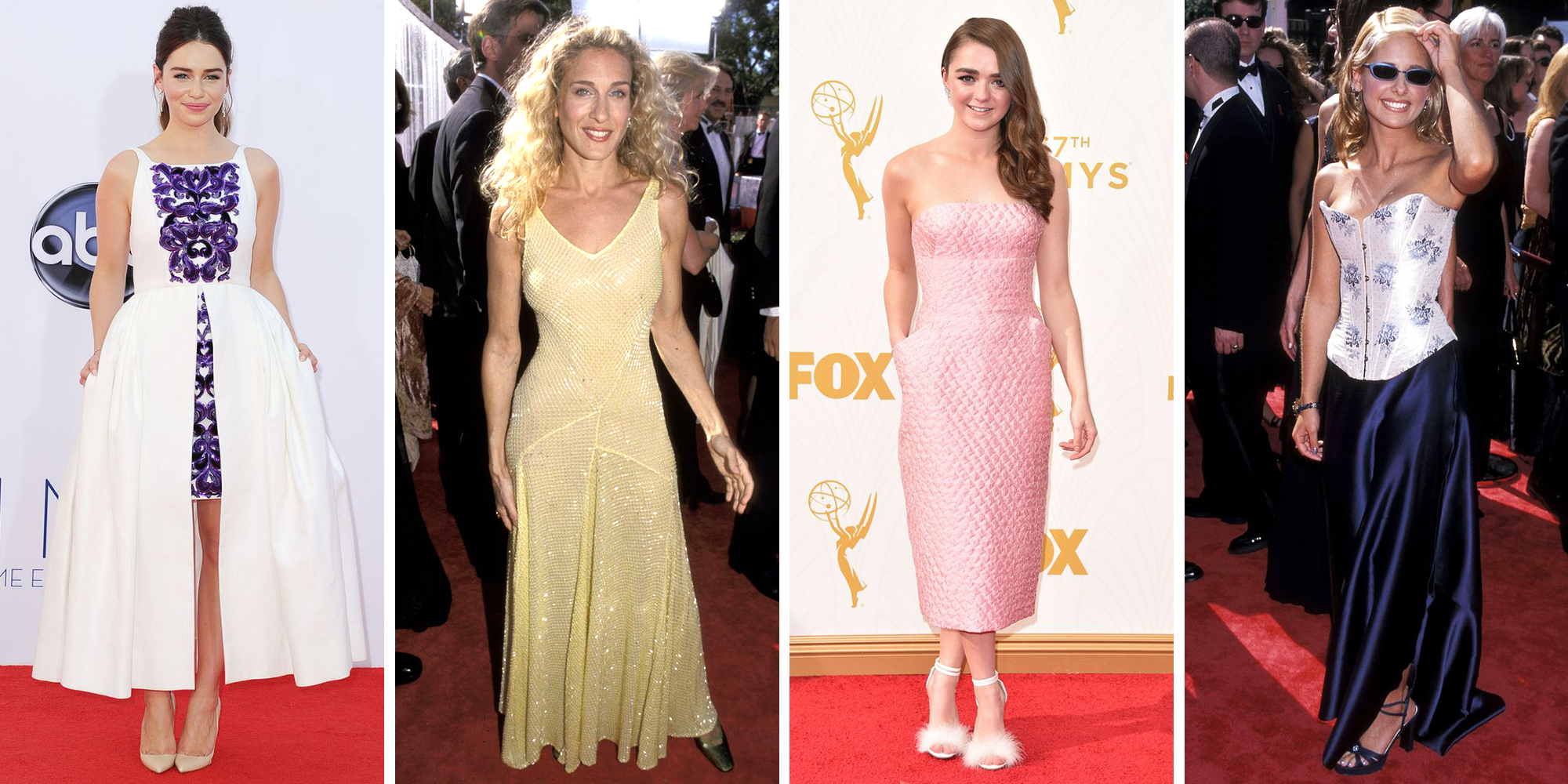 Here's What 58 Celebrities Wore to Their First-Ever Emmy Red Carpets