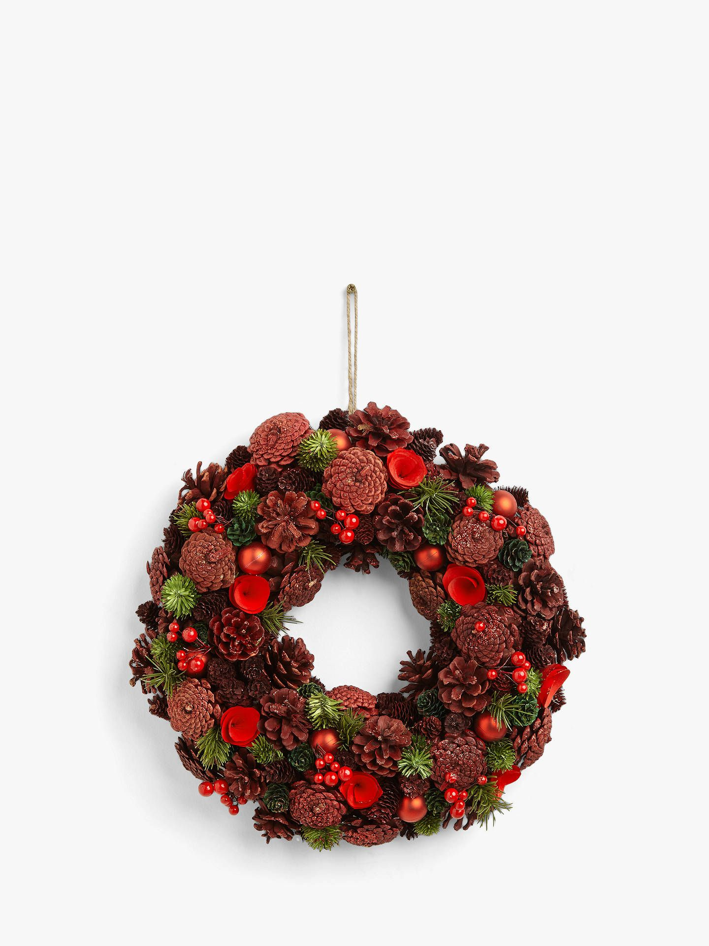 Lovely Large Christmas Wreath 50cm with LED Lights and Timer Indoor or Outdoor
