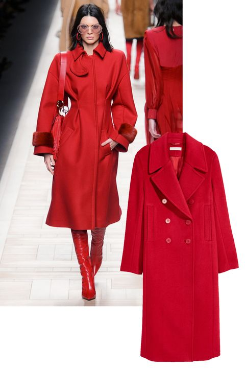 Clothing, Overcoat, Coat, Red, Outerwear, Fashion, Fashion model, Trench coat, Duster, Sleeve,