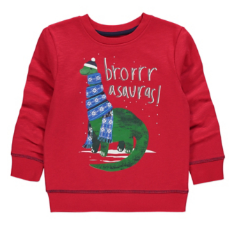 Red Dinosaur Christmas Sweatshirt
