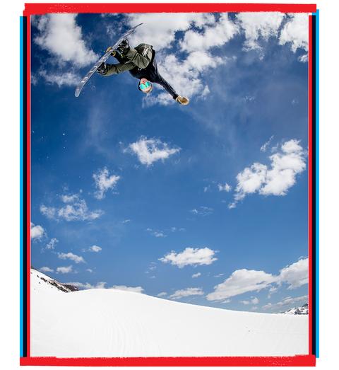 Red Gerard snowboarding