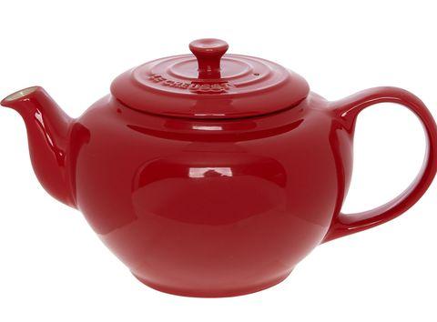 Red Glazed Stoneware Teapot, Le Creuset