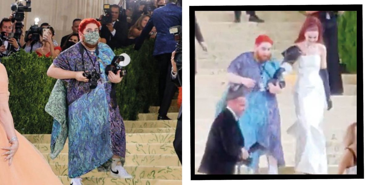 Met Gala 2021: A Red Haired Photographer Attracts The Attention Of Twitter - elle.com