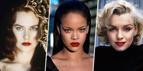 7a0d51b9 30 Most Iconic Red Lip Looks of All Time - Celebrity Red Lipstick Ideas