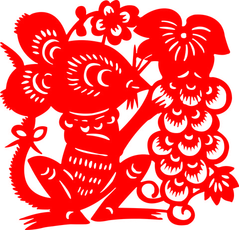 Red Mouse of Papercut art of China
