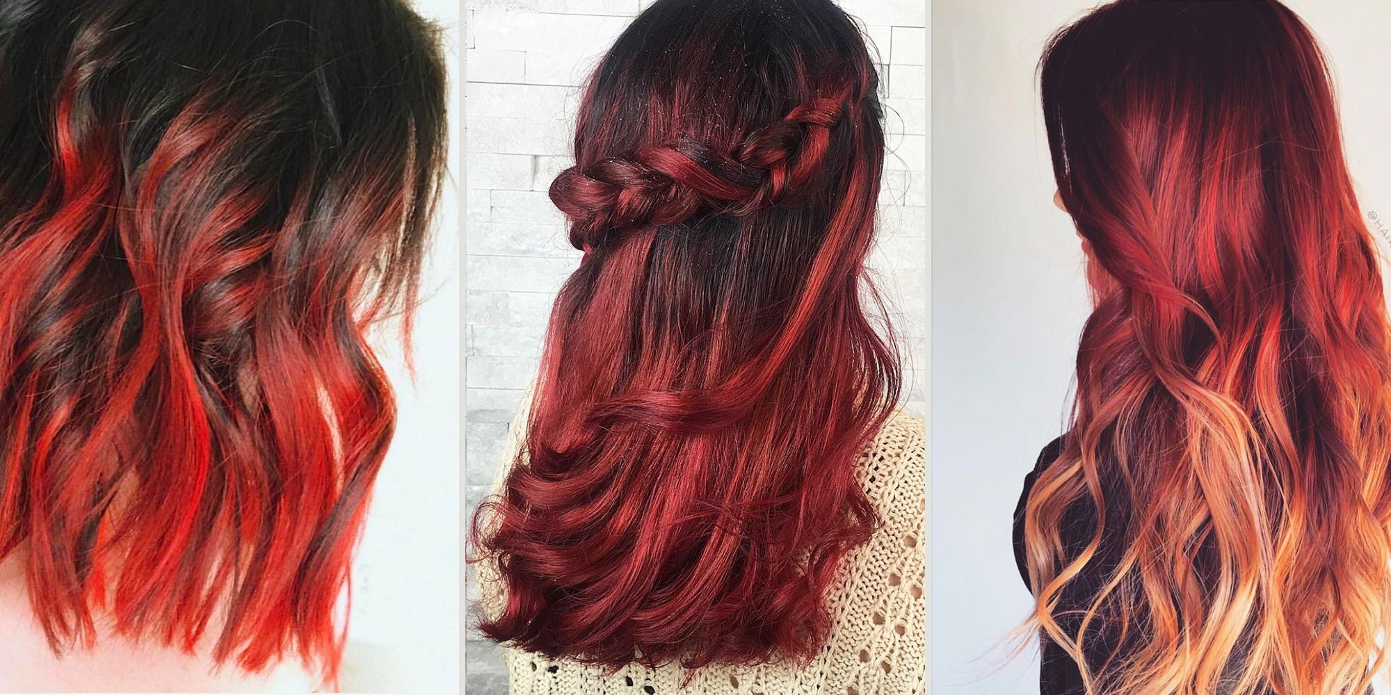 Red Ombre Hairstyles Red Ombre Hair Color Ideas