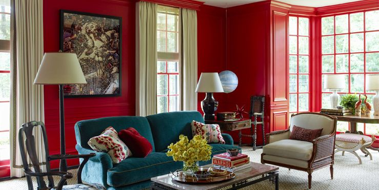 20 Best Red Living Rooms Interior Design Ideas