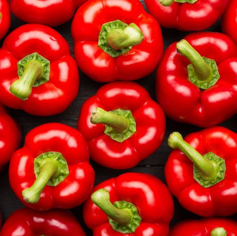 red peppers full frame background
