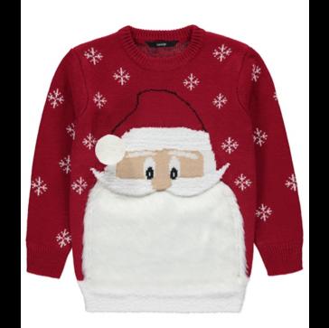 Red Santa Beard Christmas Jumper
