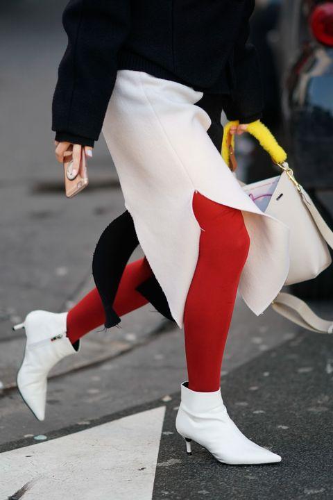 White, Street fashion, Footwear, Red, Leg, Human leg, Fashion, Pink, Shoe, Joint,