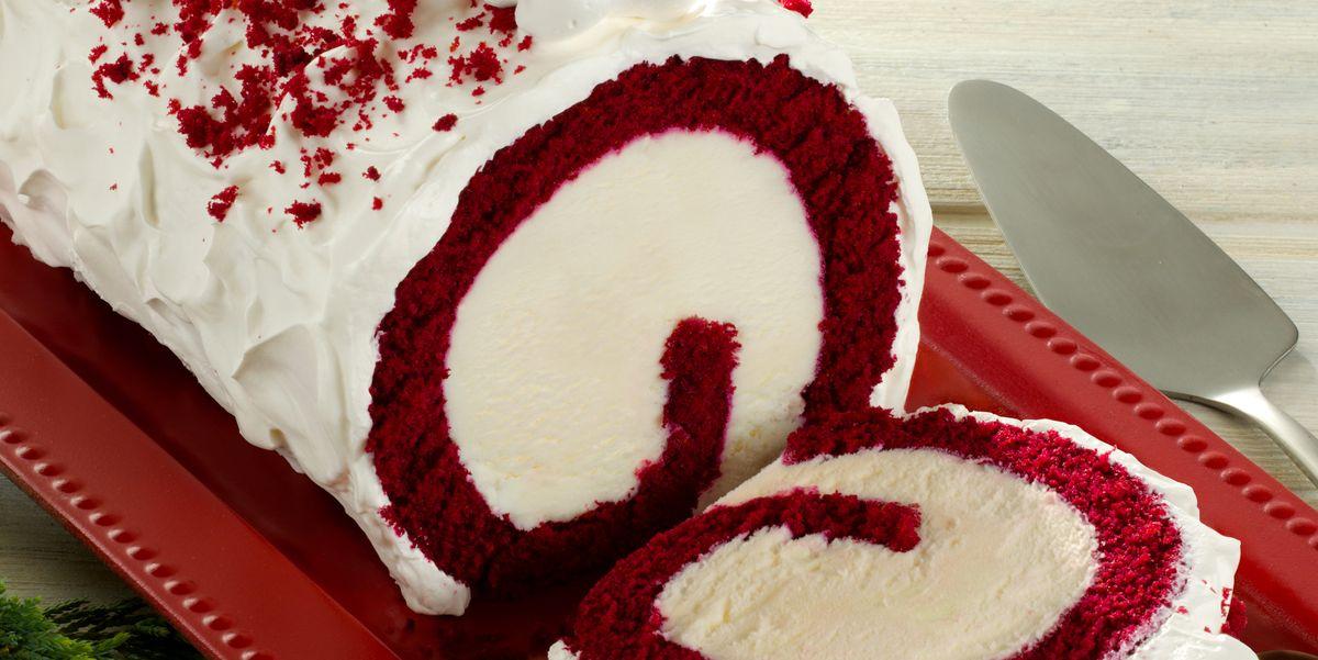 Baskin Robbins Red Velvet Roll Cake Has Cream Cheese